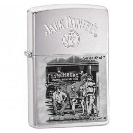 Купить - Зажигалка Zippo 28737 Jack Daniel's Brushed Chrome