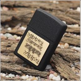 Купить - Зажигалка Zippo 362 Zippo Brass Emblem Black Crackle