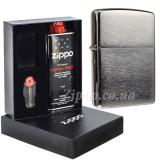 Набор Zippo 200 Classic Brushed Chrome в подарочной упаковке